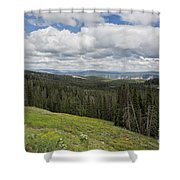 Looking To The Canyon - Yellowstone Shower Curtain