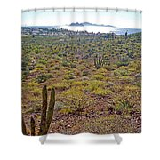 Looking Toward Bahia Kino Over Sonoran Desert-sonora-mexico Shower Curtain