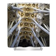 Looking Up At The Sagrada Familia In Barcelona Shower Curtain