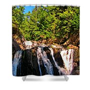Looking Up At Victoria Falls Shower Curtain