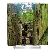 Looking Up Bodmin Jail Shower Curtain