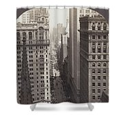Looking Up Broadway In Nyc Shower Curtain