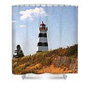 Looking Up From The Dunes At West Point Light Shower Curtain