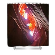 Looking Up In Antelope Canyon Shower Curtain