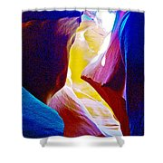 Looking Up In Lower Antelope Canyon In Lake Powell Navajo Tribal Park-arizona  Shower Curtain