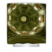 Looking Up Salzburg Cathedral 2 Shower Curtain