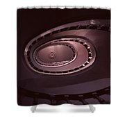 Looking Up Spiral Stair 2 Shower Curtain