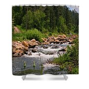 Looking Up The Rapids Shower Curtain
