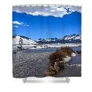Looking Up The Salmon River Shower Curtain