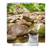 Looking Upstream The Colorado St Vrain River Shower Curtain