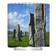 Looking West At Callanish Shower Curtain