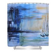 Looming In The Distance Shower Curtain