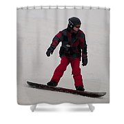 Loon Run 10 Shower Curtain