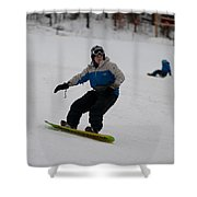 Loon Run 17 Shower Curtain