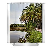 Loop Reflect Shower Curtain