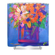Loosey Goosey Flowers Shower Curtain