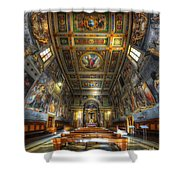 L'oratorio Del Santissimo Crosifisso Shower Curtain
