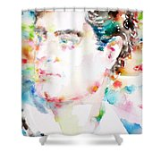 Lord Byron - Watercolor Portrait Shower Curtain