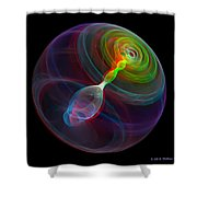 Lorenz Sphere - Use Red/cyan Filtered 3d Glasses Shower Curtain