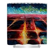 Los Angeles At Night From Mountains Shower Curtain