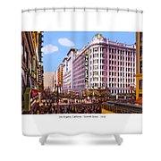 Los Angeles California - Seventh Street - 1938 Shower Curtain