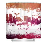 Los Angeles California Skyline Shower Curtain
