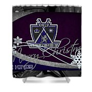 Los Angeles Kings Christmas Shower Curtain