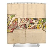 Los Angeles Lakers Logo Art Shower Curtain