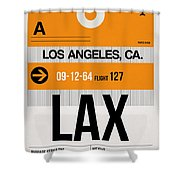 Los Angeles Luggage Poster 2 Shower Curtain
