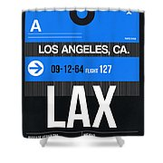 Los Angeles Luggage Poster 3 Shower Curtain