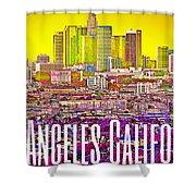Los Angeles Postcard Shower Curtain