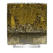 Los Angeles Skyline Abstract 4 Shower Curtain
