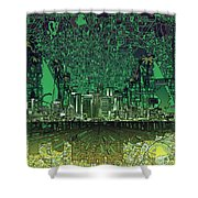 Los Angeles Skyline Abstract 6 Shower Curtain