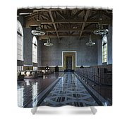 Los Angeles Union Station Original Ticket Lobby Shower Curtain