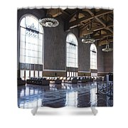 Los Angeles Union Station Original Ticket Lobby Vertical Shower Curtain