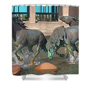 Los Colinas Mustangs 14675 Shower Curtain
