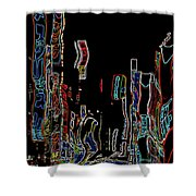 Losing Equilibrium - Abstract Art Shower Curtain