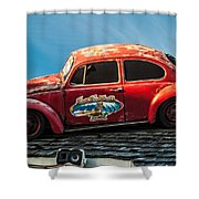 Lost Beetle Shower Curtain