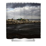 Lost Boats Shower Curtain