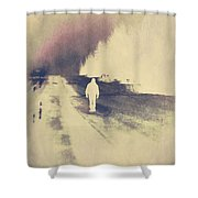Lost Hitch Hiker Shower Curtain