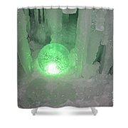 Lost Ice Globe Shower Curtain