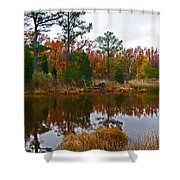 Lost In A Marsh Pond Shower Curtain