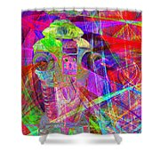 Lost In Abstract Space 20130611 Shower Curtain