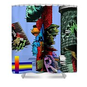 Lost In Comic Book Time Shower Curtain