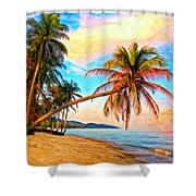 Lost In Paradise Shower Curtain