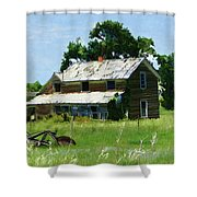 Lost In Wyoming II Shower Curtain
