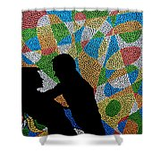One Kiss Shower Curtain