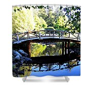 Lost Lagoon Bridge Shower Curtain