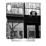 Lost Lake Black And White Shower Curtain