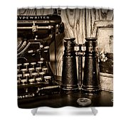 Lost Love In Black And White Shower Curtain
